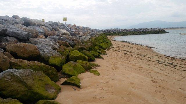 Diques playas Bahía de Santander