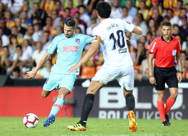 Vitolo en el Valencia - Atlético