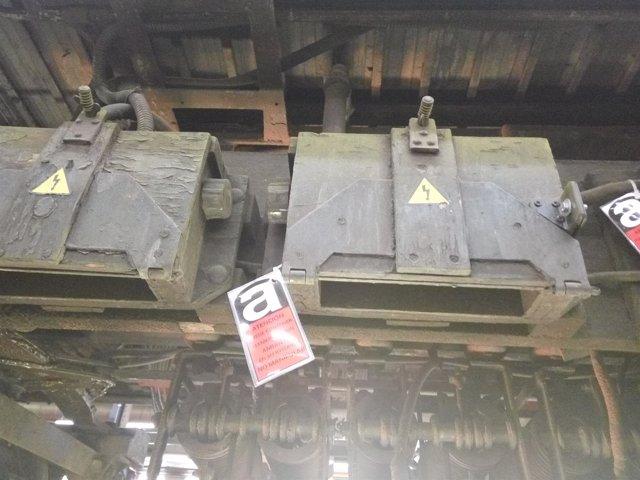 Una pieza de un tren de Metro con amianto