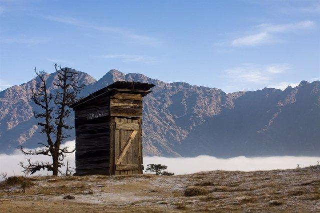 Retrete, inodoro en Nepal