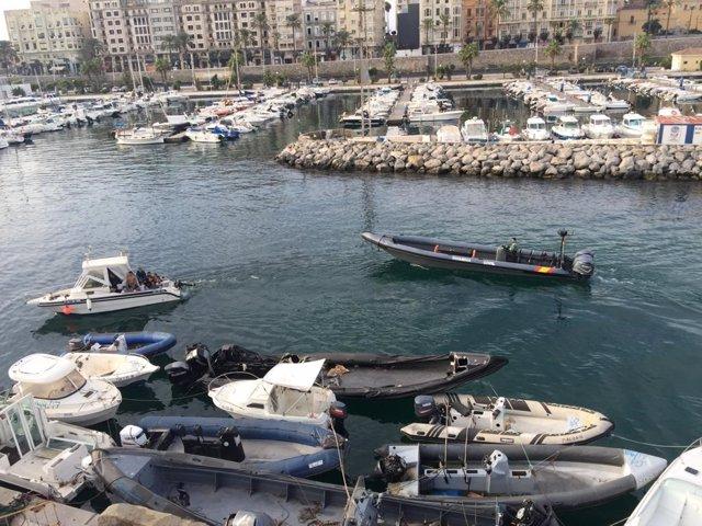 Guardia Civil, en una actuación en Ceuta