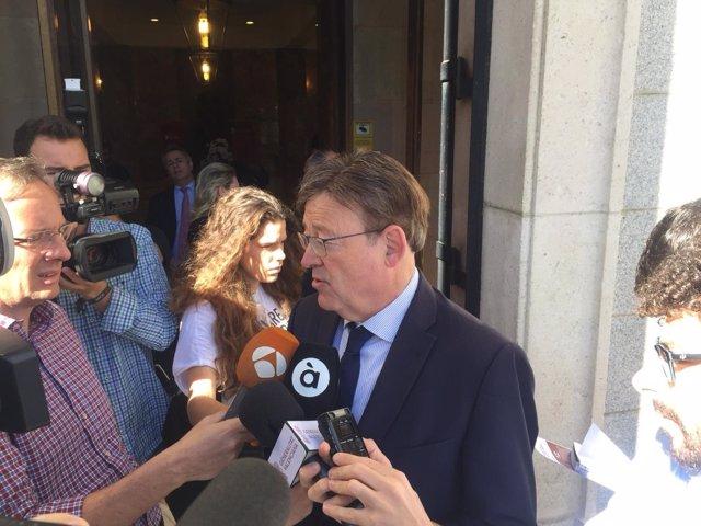 Puig atiende a los medios en Madrid