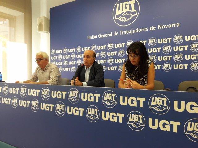 Jesús Javier Elizalde, de UGT (i) y Begoña de Frutos, de SPA.