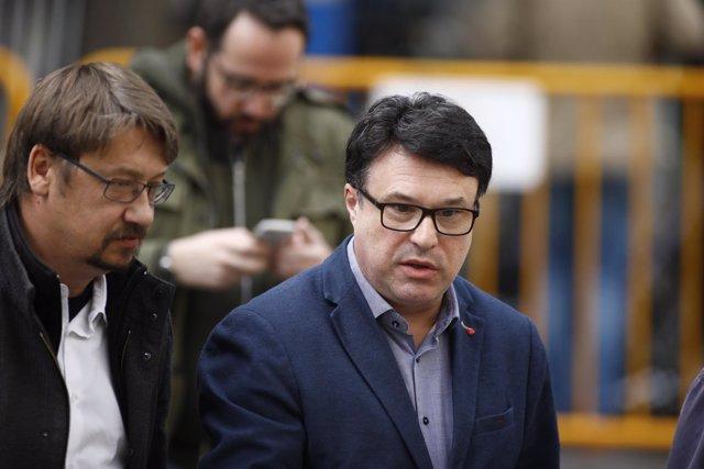 El exmiembro de la Mesa del Parlament Joan Josep Nuet llega al Tribunal Supremo