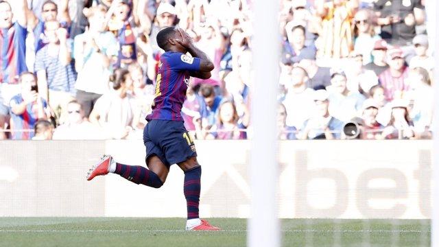 Malcom con el Barcelona