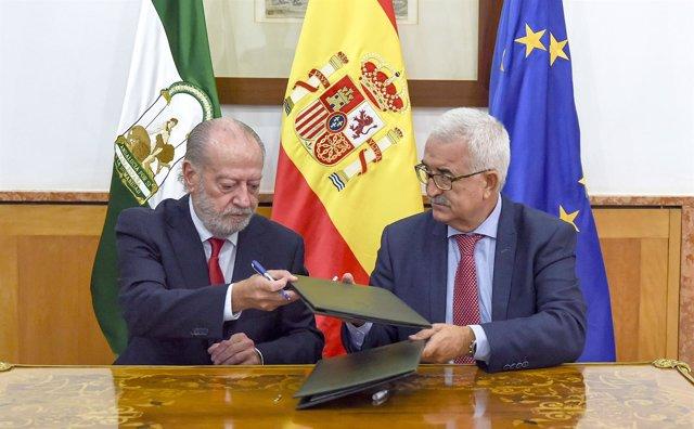 El Vicepresidente De La Junta Y Consejero De La Presidencia, Administración Loca