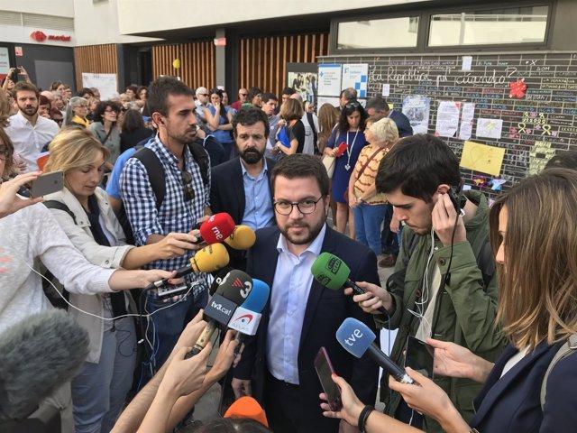 El vicepresidente de la Generalitat y conseller de Economía, Pere Aragonès