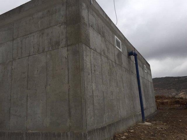 Imagen del depósito del Cerro del Charcón, actuación del plan de Galasa de 2017.