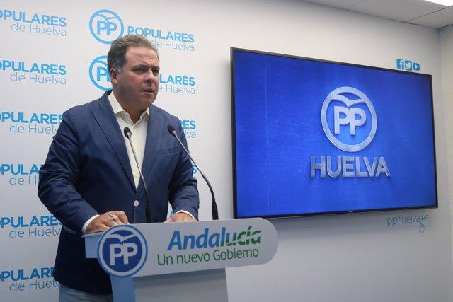 Juan Carlos Duarte, portavoz provincial  del PP de Huelva.