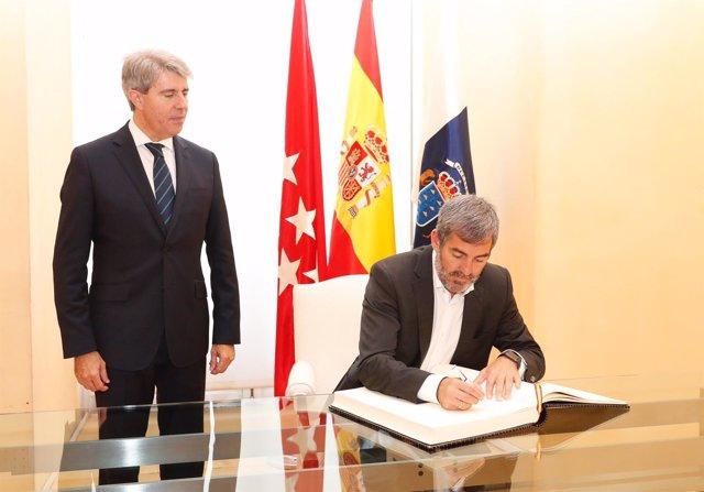 Los presidentes de Canarias y de Madrid (foto de archivo)