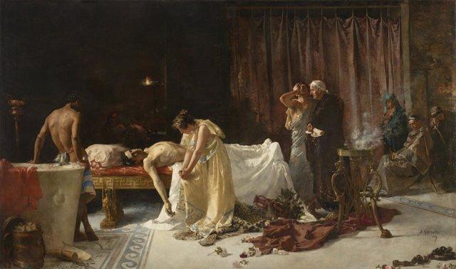 El Museo del Prado restaura 'La muerte de Lucano', obra del artista José Garnelo