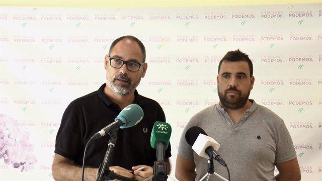 Diputado Alberto Montero y alejandro serrato coordinador provincial Podemos mála