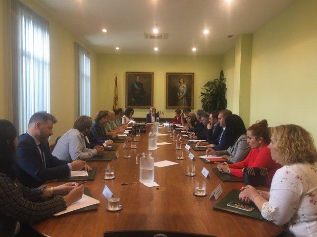 Reunión de Junta de Seguridad con dirigentes políticos asturianos