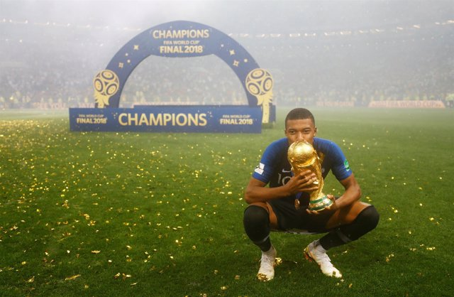 El jugador de la selección francesa Kylian Mbappé