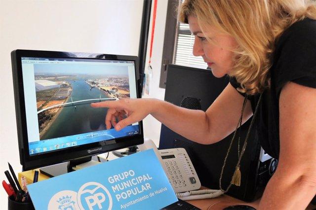 La viceportavoz del PP en el Ayuntamiento, Berta Centeno.