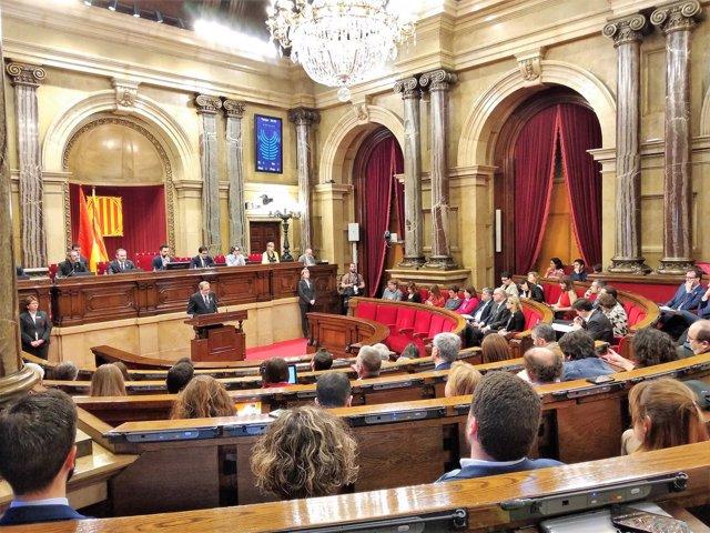 Quim Torra en el pleno del Parlament (Archivo)