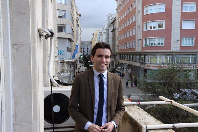 El portavoz del PSOE en el Ayuntamiento de Santander, Pedro Casares