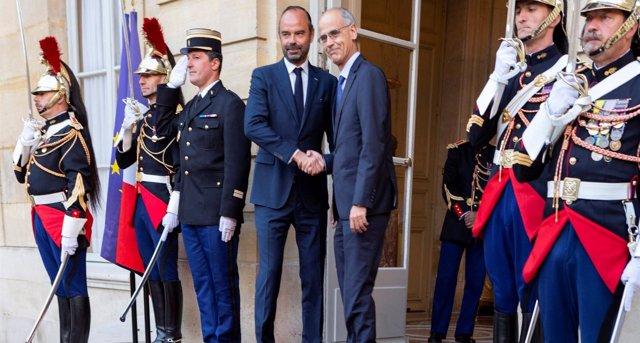 Reunión de T.Martí y el primer ministro francés Édouard Philippe