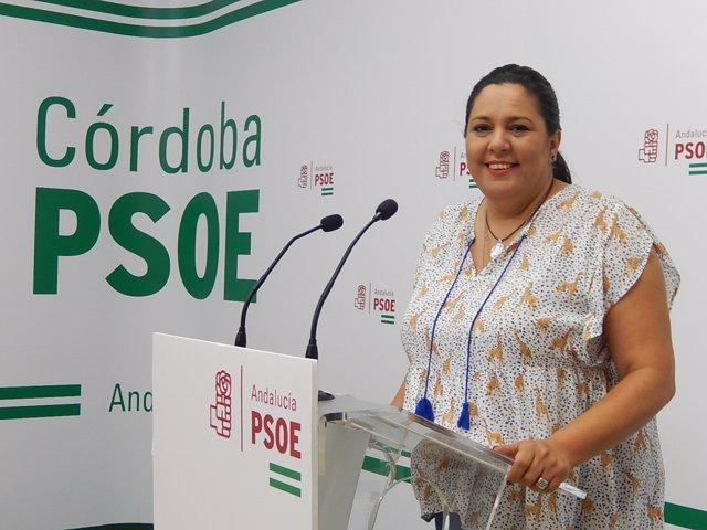 Dolores Amo en la sede del PSOE