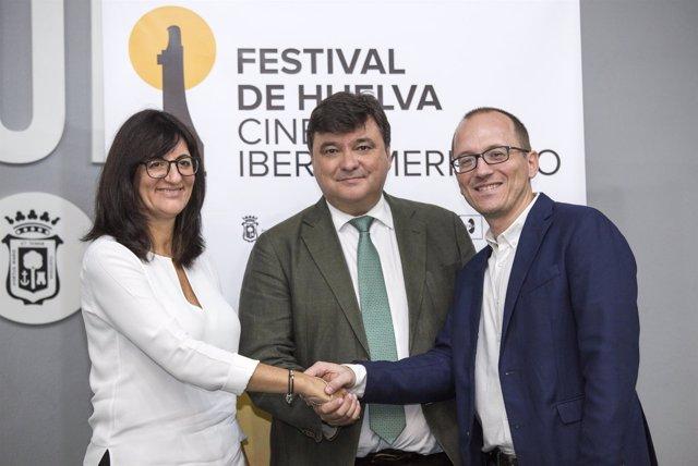 Acuerdo entre la Onubense y el Festival de Cine Iberoamericano de Huelva.