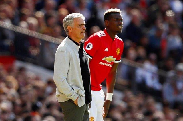 El entrenador portugués del Manchester United José Mourinho