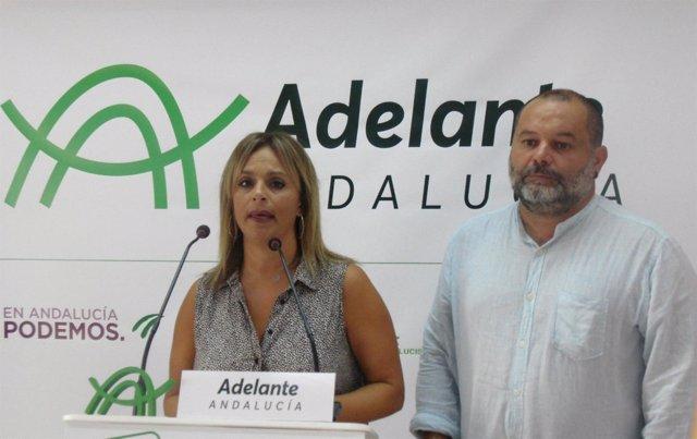 María de Gracia y Rafael Sánchez Rufo, de Adelante Andalucía.