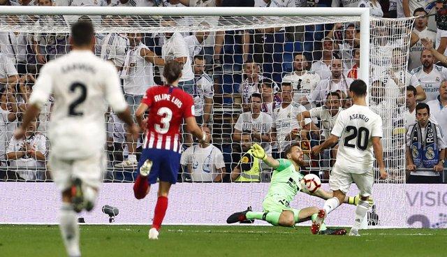 Asensio se topa con Oblak en el derbi Real Madrid-Atlético