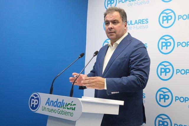 El portavoz de la Dirección Provincial del PP, Juan Carlos Duarte.