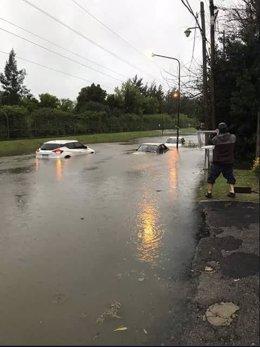 Inundaciones por el temporal en Del Viso