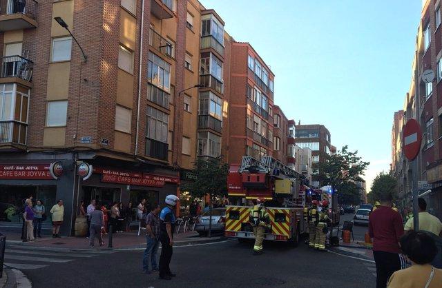 Intervención de los Bomberos en la calle Canterac. 1-10-2018