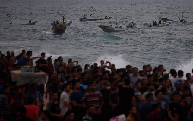 Embarcaciones intentan rompero el bloqueo de Israel a la Franja de Gaza