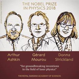 Premiados con el Nobel de Física 2018