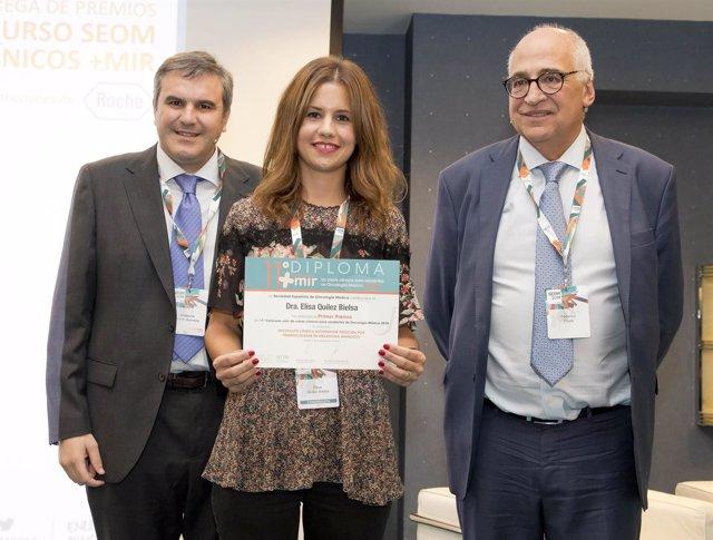Elisa Quilez, premio de la Fundación SEOM y Roche
