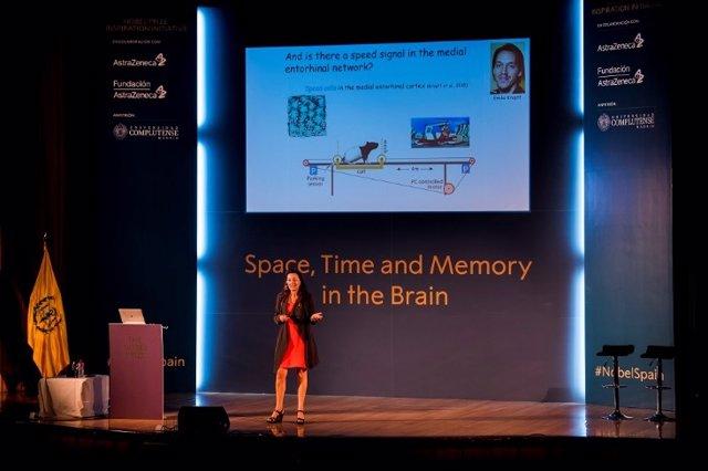 La Premio Nobel de Medicina May-Britt Moser en unas jornadas de AstraZeneca