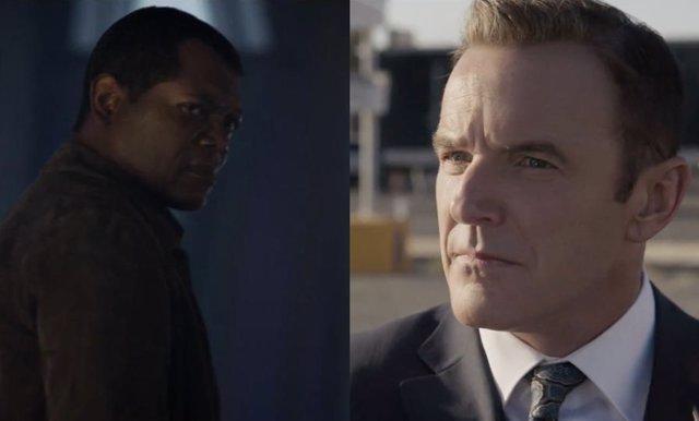 Coulson y Nick Fury en Capitana Marvel