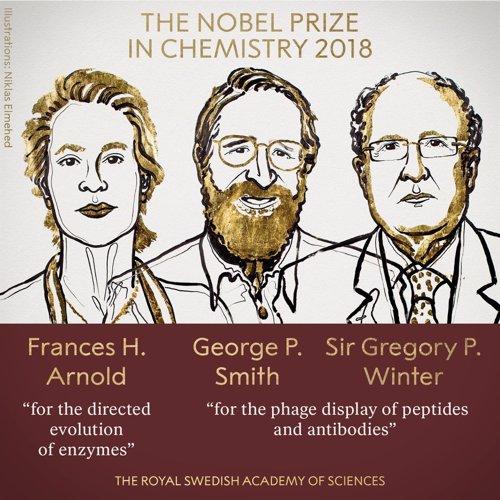 Resultado de imagen de Premio nobel de quimica 2018