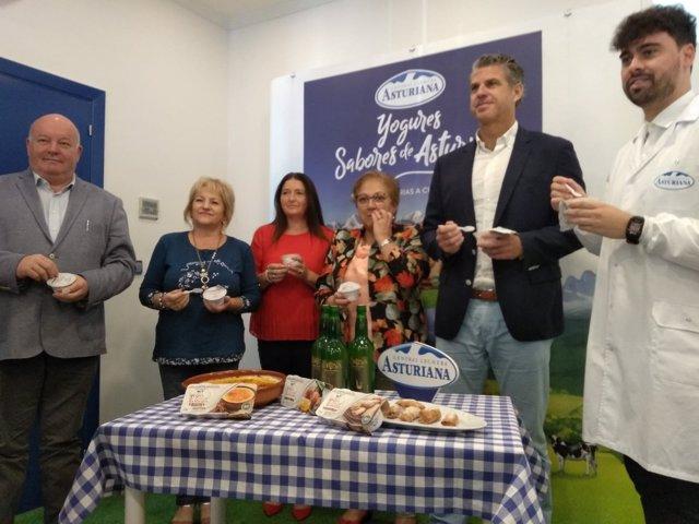 Presentación de los nuevos yogures de Central Lechera Asturiana.