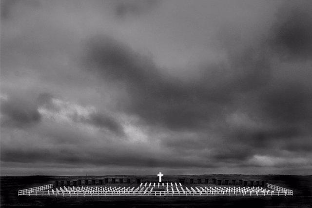 Cementerio argentino de Puerto Darwin
