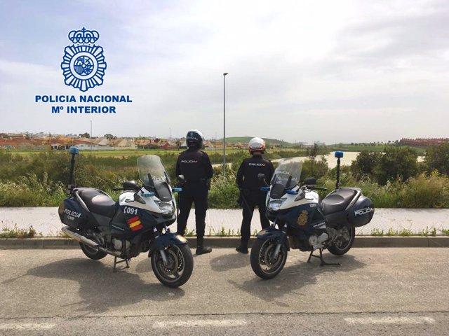 Agentes de la Policía Nacional en Jerez en una imagen de archivo
