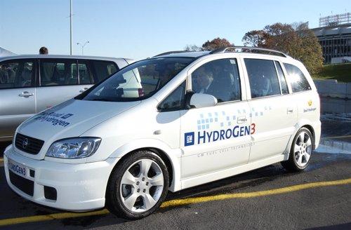 Coche motorizado con pila de hidrógeno
