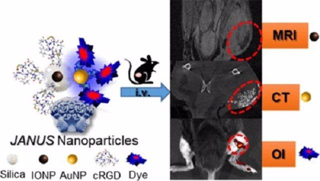 Composición y aplicación de la nanoplataforma JANUS para imagen medica multimoda
