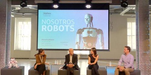 Presentación de la exposición Nosotros Robots, en Fundación Telefónica (Madrid)