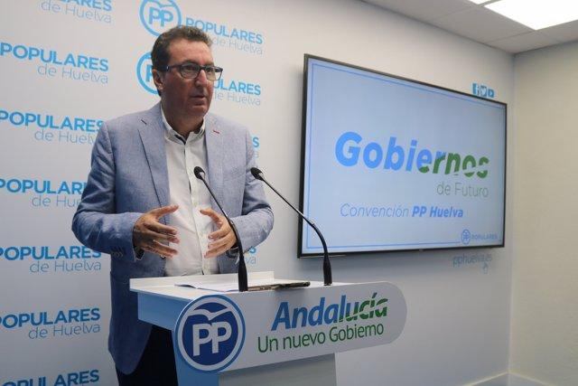 Manuel Andrés González, presidente provincial del PP de Huelva.