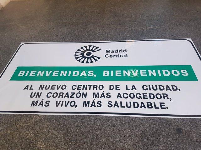 Cartel sobre el proyecto de Madrid Central