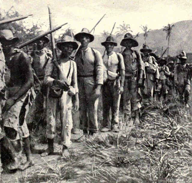 Soldados cubanos en 1898