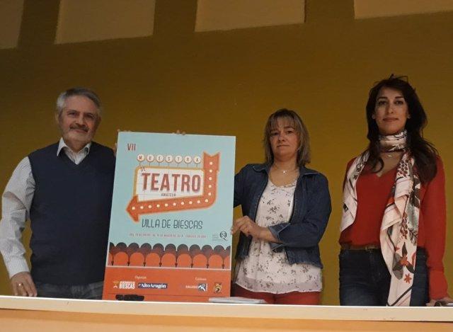 Cartel de la VII Muestra de Teatro Amateur de Biescas
