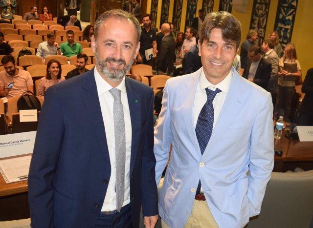 Javier Celdrán, con el presidente de la nueva asociación Adeimur