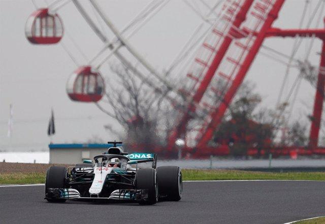 Lewis Hamilton (Mercedes) en Suzuka (Japón)