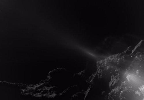 El reflejo del Sol en MASCOT se aprecia en esta imagen de la superficie de Ryugu