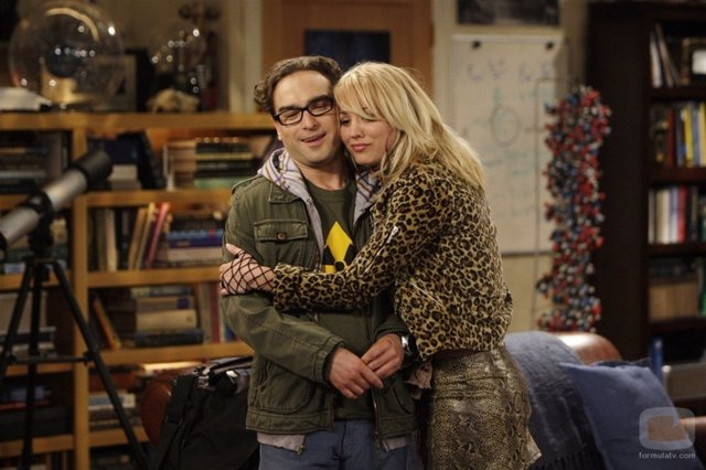 Leonard y Penny enThe Big Bang Theory